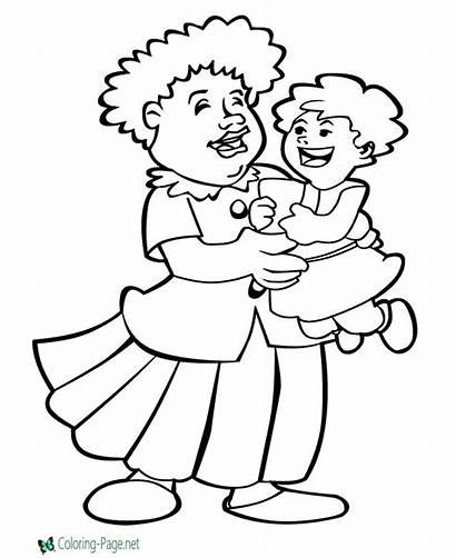 Coloring Mother Pages Mothers Printable Memorial Animated