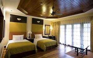 Wooden ceiling design for hotel room for Interior decoration hotel rooms