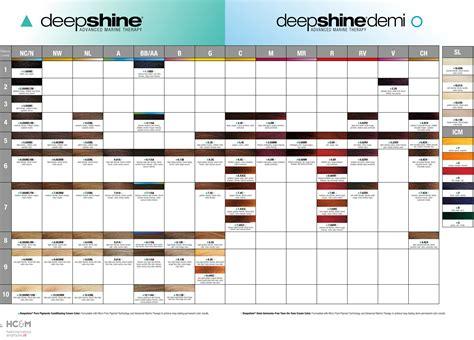 rusk deepshine color chart sept 2014 cosmetology hair