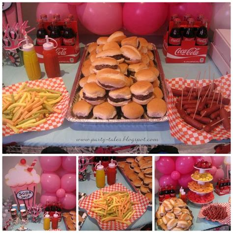 food ideas for sock hop 50 s theme diner birthday party ideas hot dogs birthdays and birthday parties