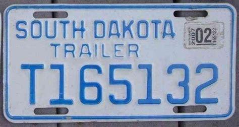 South Dakota 2007 Motorcycle Style Trailer License Plate