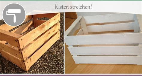Kistenregal Selber Bauen  Teil 2  Kisten Streichen
