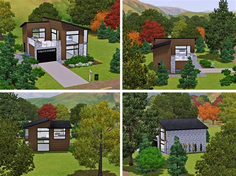 dramatic contemporary with second floor deck the sims 3