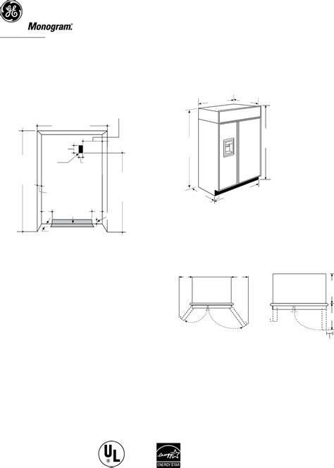 ge monogram refrigerator bdr user guide manualsonlinecom