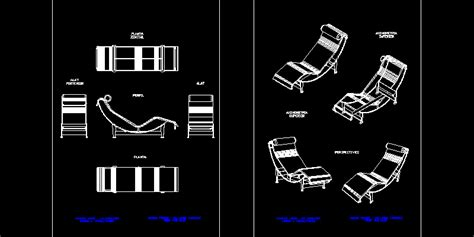 chaise dwg le corbusier lounge chair dwg chair design ideas