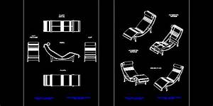 Le Corbusier Chair 2D DWG Block for AutoCAD • Designs CAD
