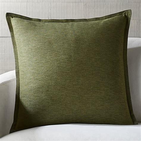 3422 bronze throw pillows linden bronze green 23 quot pillow crate and barrel