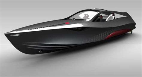 sleek silver motorboats mazda nagare hybrid powerboat