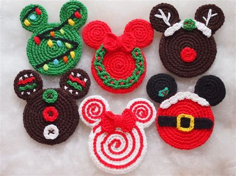 set    christmas ornaments mickey  minnie mouse