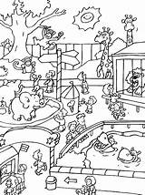 Zoo Animals Coloring Pages sketch template