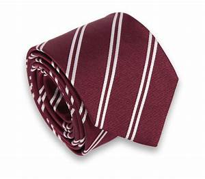 Burgundy with White Stripes Hackett Tie - The House of Ties