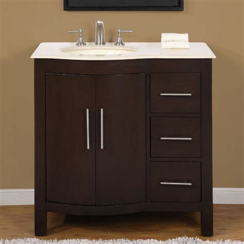 modern single bathroom vanity  marble