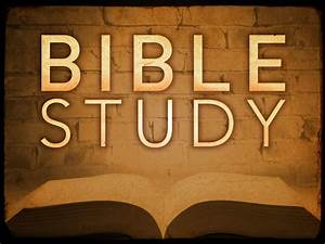 Wednesday Night... Bible Study