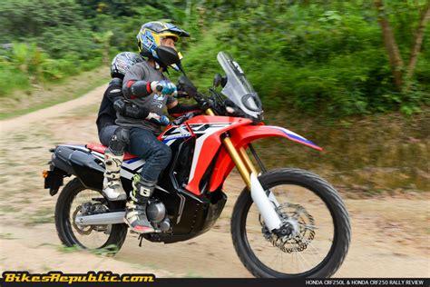 Review Honda Crf250rally honda crf250l crf250 rally test review bikesrepublic