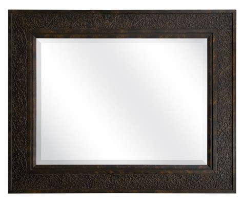 better homes and gardens beveled rectangular mirror brown
