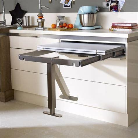table escamotable cuisine table retractable aluminium delinia 95 x 75 cm studio