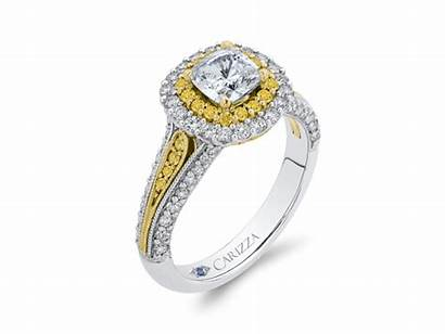 18k Tone Engagement Ring Carizza Le