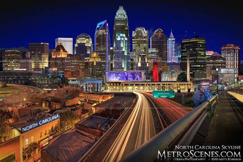 The North Carolina Cityscape at night - RaleighSkyline.com ...