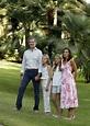 Spain's Queen Letizia poses alongside King Felipe VI and ...