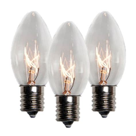 case of 1000 bulbs c9 clear incandescent low energy