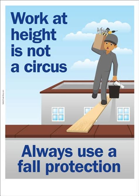 Industrial Kitchen Design Ideas - work at height is not a circus safety poster shop