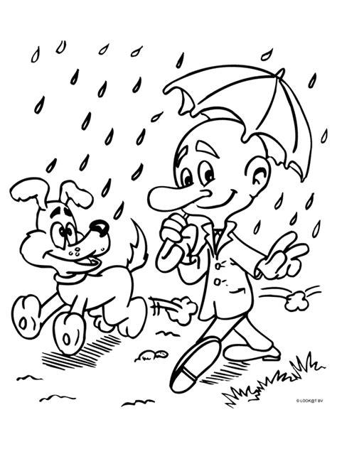Kleurplaat Puk Herfst by Uk En Puk Kleurplaten Regen