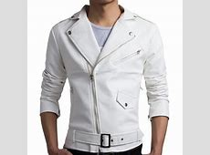 Compare Prices on White Leather Jacket Men Online