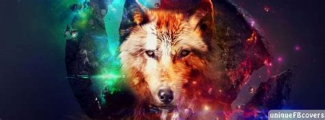 Wolf In Space Artistic Facebook Covers | Abstract Fb Cover ...