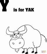 Coloring Yak Letter Printable Crafts Dot sketch template