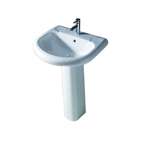 barclay products orient 660 pedestal combo bathroom sink