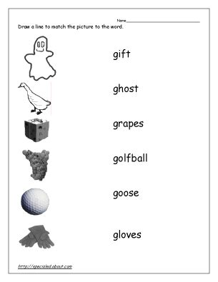 preschool words that start with g 15 best images of letter g phonics worksheets printable 402