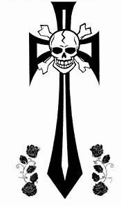 Skull Cross BW by SomeDarkPerson on DeviantArt
