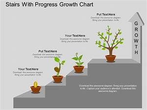 Eu Stairs With Progress Growth Chart Flat Powerpoint