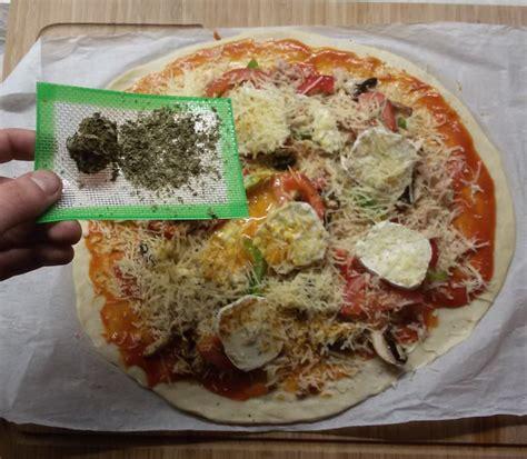 cuisiner au beurre pizza au cannabis du growshop alchimia