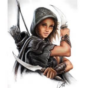 Assassin Girl Drawings