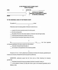 Temporary Guardianship Form Samples 10 Free Documents
