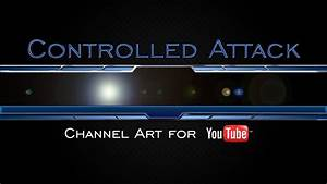 Controlled Attack Gaming Youtube Channel Art Template