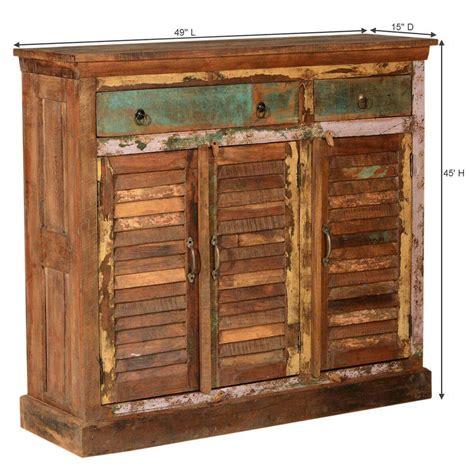 Wood Sideboard Cabinet by Rustic Reclaimed Wood 3 Drawer 3 Door