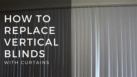 curtains for vertical blind track how to replace vertical blinds with curtains 8524
