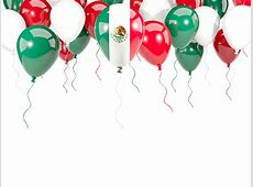 Balloon frame with flag Illustration of flag of Mexico