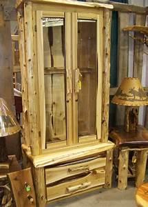 Rustic Gun Cabinet Log Gun Cabinet