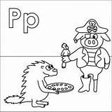 Coloring Pages Alphabet Pirate Letter Parrot Pizza Pig Letters Porcupine Peg Leg Patch Coloringpages4u Coloringpages Preschool Crafts Kitty Hello Colouring sketch template