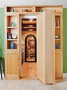 Hidden-door Bookcase Woodworking Plan from WOOD Magazine