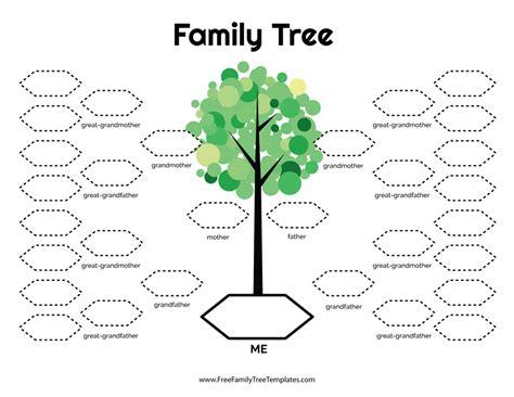 Family Tree Template Family Tree Templates 4 Generations 5 Generation Family Tree Template Free Family Tree Templates