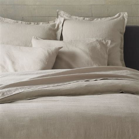 lino flax linen duvet covers and pillow shams crate and barrel to pair with the pendleton