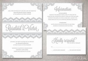 lace quotrosalindquot wedding invitation suite romantic With wedding invitation suite sizes