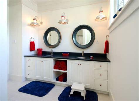 nautical themed bathroom ideas elegant bathroom design for kids who love the nautical theme and a sense of panache decoist