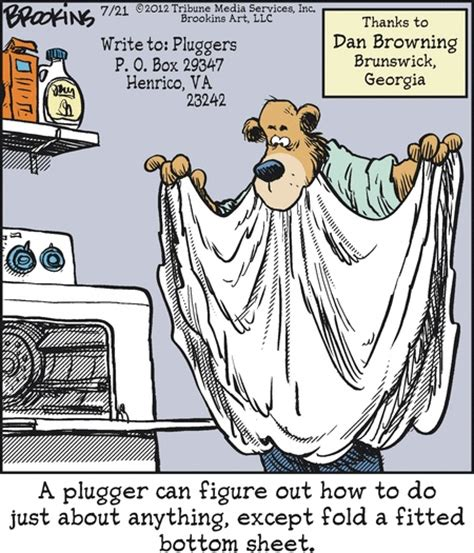 plugger trying to fold a fitted bottom sheet