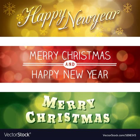 You can get beautiful merry christmas and happy new year 2021 images and wishes to send directly to. Merry Christmas and Happy New Year Banner Vector Image
