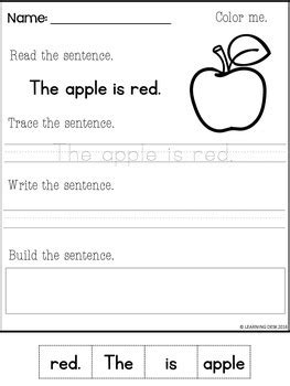 Simple Sentences Worksheetssimple Sentences Activity By Learning Desk